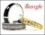 Bangle, Onyx, Silver